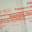 Birth Certificate — Stock Photo #1617430
