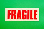 Fragile on Green — Stock Photo