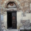 Stock Photo: Door to ancient church