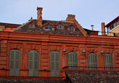 Roof and windows in european style — Stock Photo