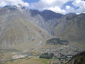Kazbegi town — Stock Photo