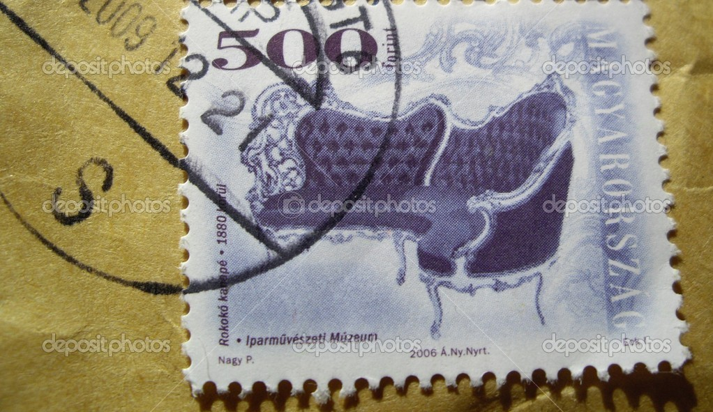 Hungarian post mark — Stock Photo #1952828