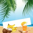 Royalty-Free Stock Vector Image: Tropical still life