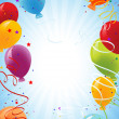 Celebration background with balloons — Vector de stock
