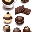 Stock Vector: Chocolate sweets