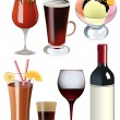 Royalty-Free Stock Vectorielle: Cocktails