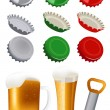 Beer objects — Stock Vector