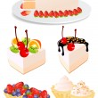Cake set — Stockvectorbeeld