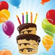 Birthday cake background - Grafika wektorowa