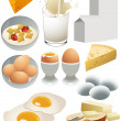 Dairy products — Stock Vector