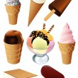 Ice cream — Vector de stock #1637489
