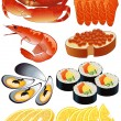Royalty-Free Stock Vector Image: Seafood