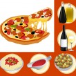 Italian food set — Stock Vector #1637538