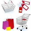 Stock Vector: Shopping basket