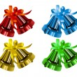 Christmas_bells_different_colors — Vettoriale Stock