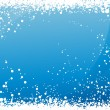 Stock Vector: Blue snowfall background