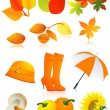 Autumn element set - Stock Vector