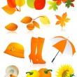 Autumn element set — Stock Vector #1638317