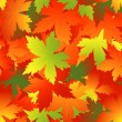 Bright autumnal leaf background - Stock Vector