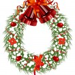 Christmas_wreath — Stock Vector