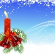 Christmas_frame_with_candles — Imagen vectorial