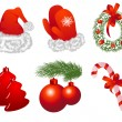 Stock Vector: Christmas objects