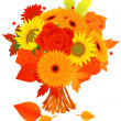 Royalty-Free Stock Imagem Vetorial: Bunch of autumn flowers