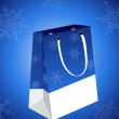 Stock Vector: Christmas bag