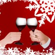 Christmas toast — Stock Vector