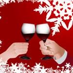 Christmas toast — Stock Vector