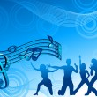 Music_dance_background_blue_color — Vektorgrafik