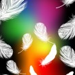 Rainbow color feather background - Stock Vector
