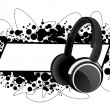 Royalty-Free Stock Vector Image: Frame with headphones