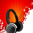 Royalty-Free Stock Vector Image: Headphone background