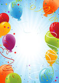 Celebration background with balloons — Cтоковый вектор