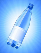 Bottle of water on blue background — Vetorial Stock