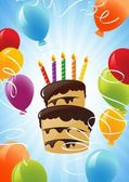 Birthday cake background — Vecteur