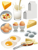 Dairy products — Vettoriale Stock