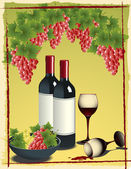 Still_life_with_vine — Stock Vector