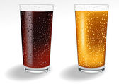 Glass_with_coke_and_orange_juice — Vetorial Stock