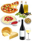 Italian food — Stock Vector