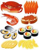 Frutos do mar — Vetorial Stock