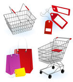 Alışveriş sepeti — Stok Vektör