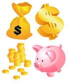 Símbolos de dinheiro — Vetorial Stock