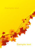 Autumnal_leaf_background — Stock Vector