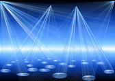 Blue disco lights — Stock Vector