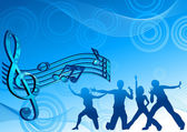 Music_dance_background_blue_color — Vetorial Stock