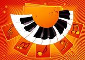 Piano_music_background — Stock Vector