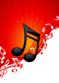 Fundo de música nota vermelha — Vetorial Stock
