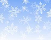 Snowflake reflection — Stock Vector